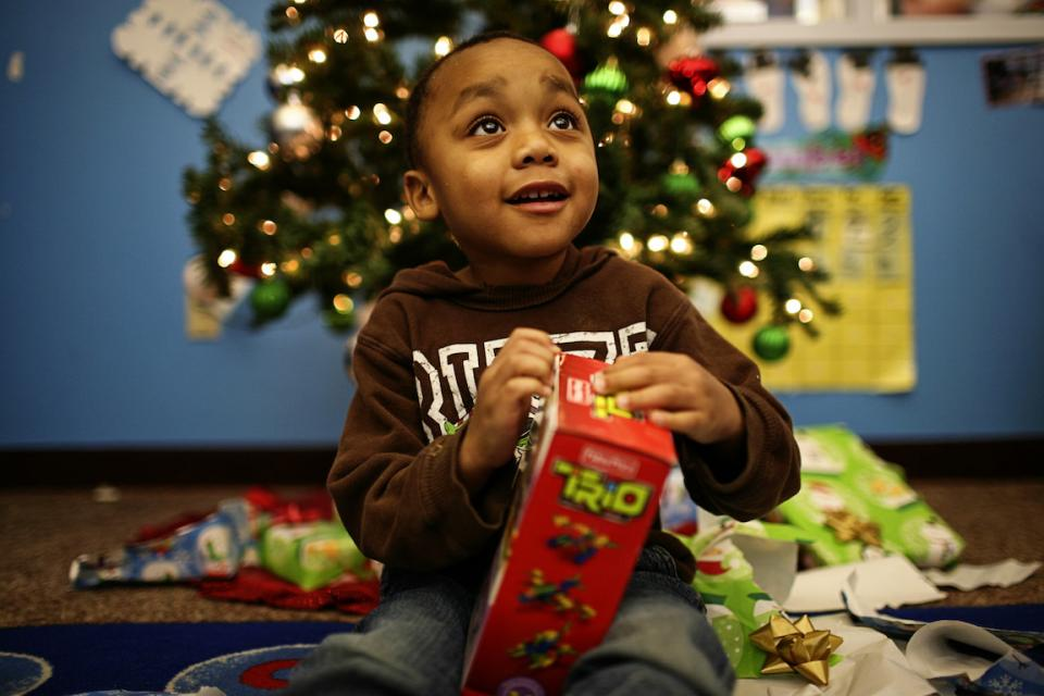 Salvation army christmas toys giveaway
