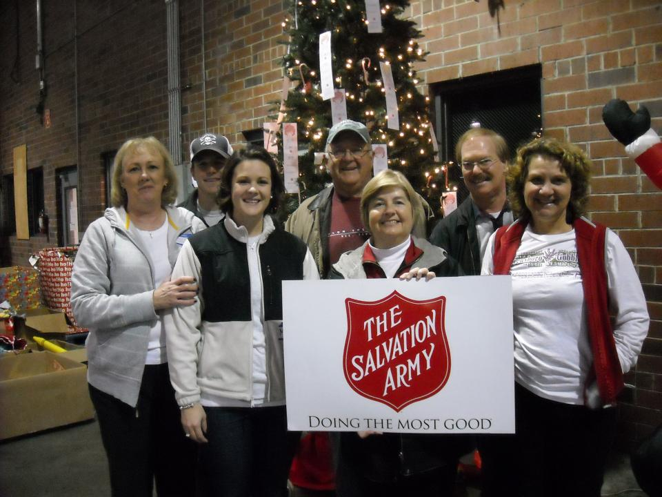 A group from Monticello United Methodist Church at the Angel Tree Warehouse