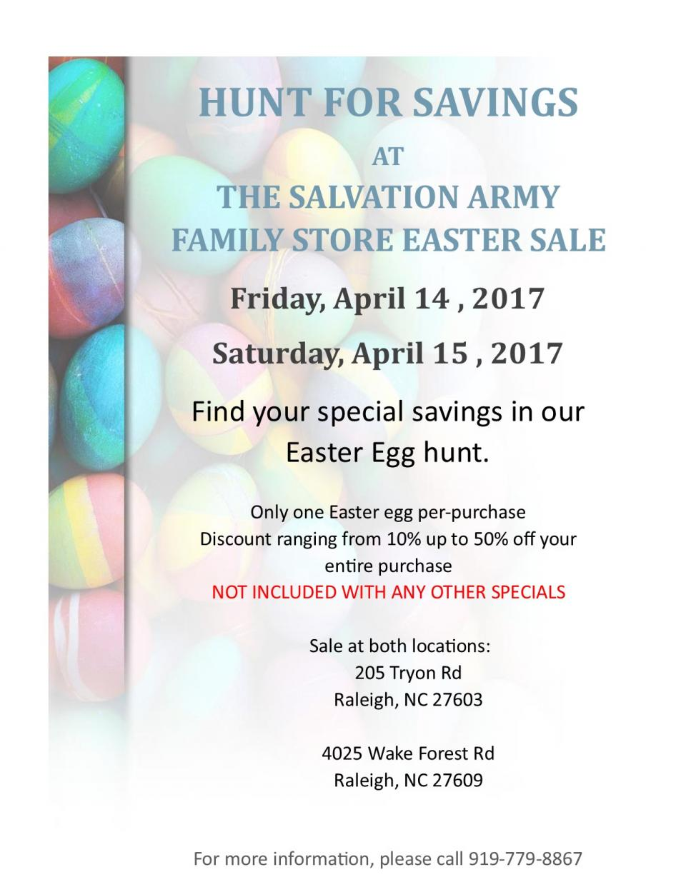 Easter Family Store Sale