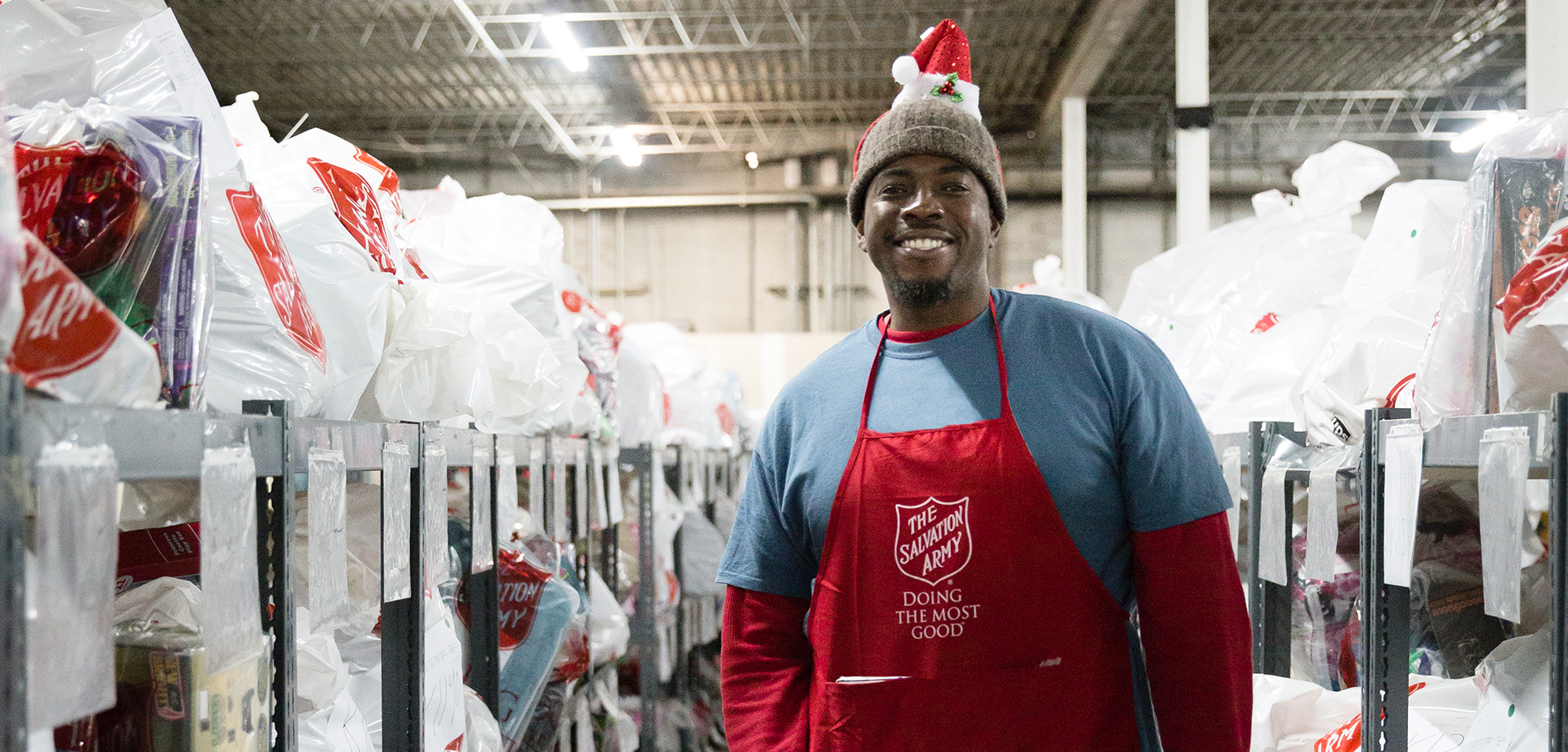 Salvation Army Christmas volunteer